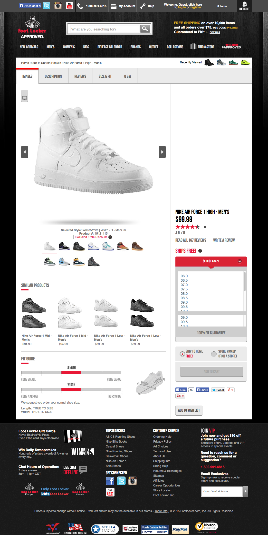 foot locker s product page usability benchmark e commerce in total 4 of foot locker s pages have been benchmarked across 93 usability guidelines from the e commerce product lists research study
