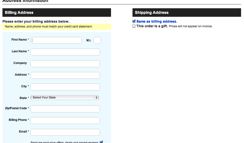 Form Usability: Getting \'Address Line 2\' Right - Articles ...