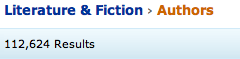 Amazon has an incredible selection: 110,000+ authors just in their Literature & Fiction section.