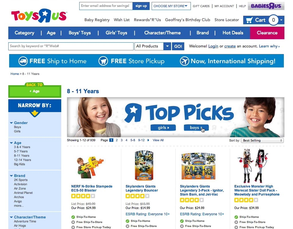 Found 5 products across 1 categories showing 1 5 products - Multiple Subjects Mistook A Top Picks Banner Placed Above The Product List At Toys R Us To Be A Filtering Tool For Their Current Product List However