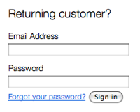 'Returning customer' is not a good header for your sign in form when you offer a 'guest checkout' option.