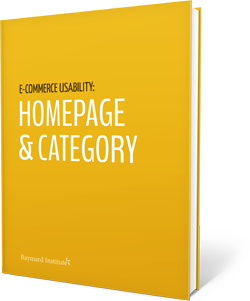 E-Commerce Homepage & Category Usability report with 79 design guidelines.