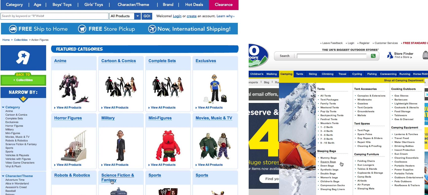 Found 5 products across 1 categories showing 1 5 products - During Testing Of Toys R Us The Intermediary Category Pages Helped The Subjects Visualize The Categories With Industry Jargon Naming Which Would Otherwise