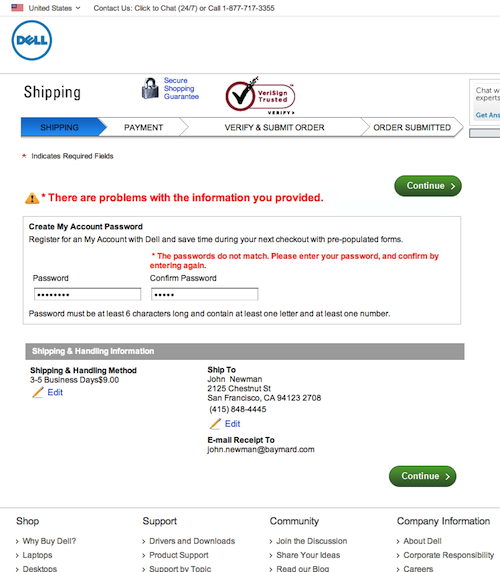 Dell again, this time we've applied the Error-Fields Only method.