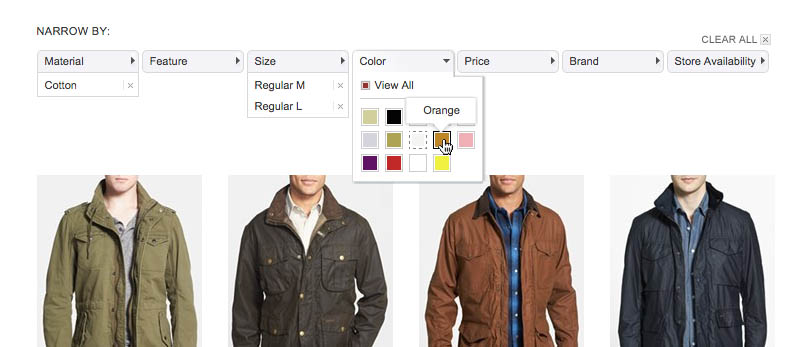Filtering UI: A Horizontal Toolbar Can Outperform the