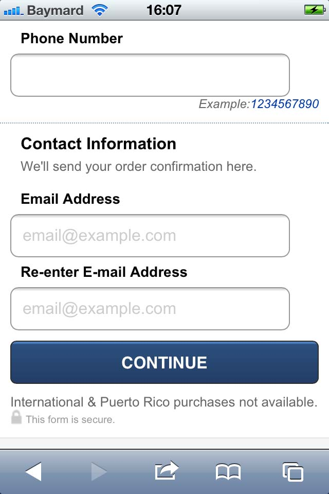 Mobile Form Usability: Place Labels Above the Field - Articles ...