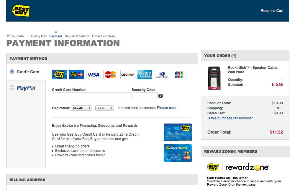 Best buy online payment options