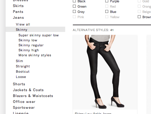E-Commerce Navigation: Show Sibling Categories for Easy Scope Adjustment (47% Get it Wrong)