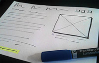 Example of a good user interface sketch.