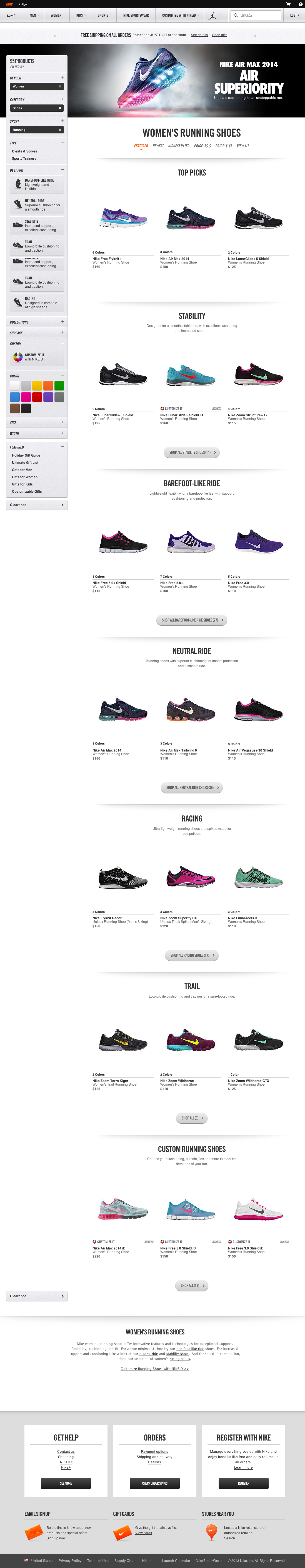 The Screenshot Was Taken December 13 2018 And Depicts Nike S Product List In Total We Ve Reviewed 33 Of Design Elements To See Them All