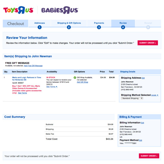 Performance Invoice Sample Excel  Examples Of Order Review Checkout Steps  Usability Benchmark  App Scan Receipts Pdf with Acknowledge The Receipt Word Toysrus Ford Dealer Invoice Pdf