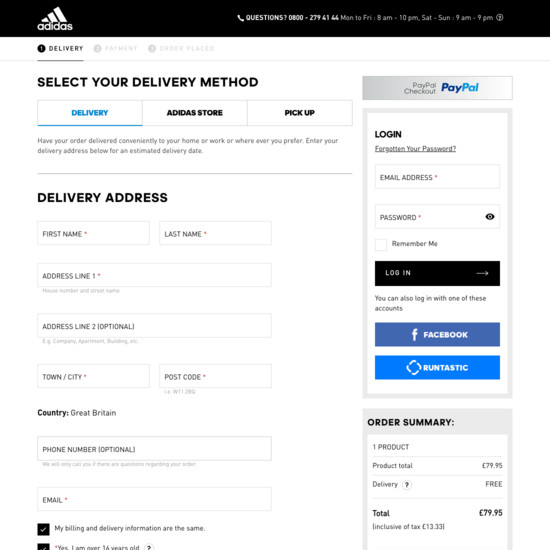 115 Examples of 'Shipping Address' Checkout Steps - Baymard