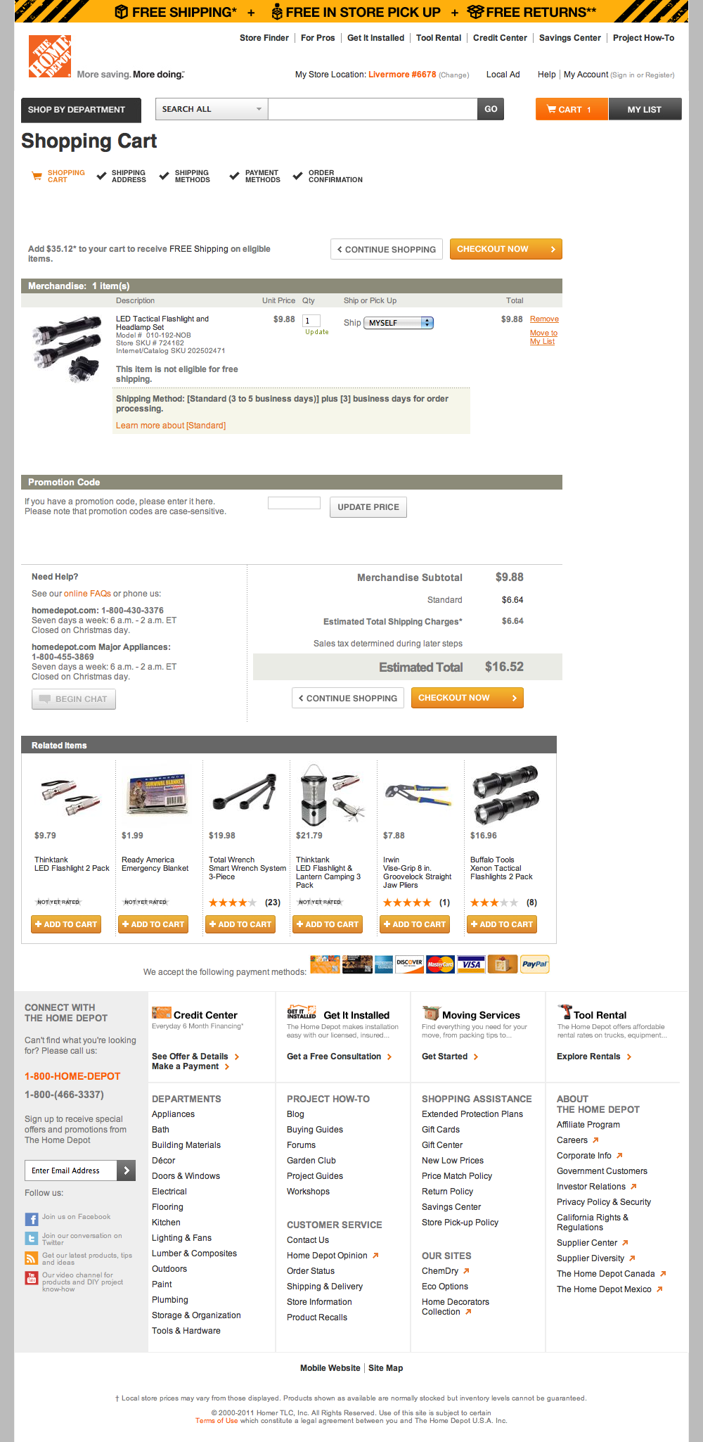 Home Depots Checkout Process Usability Benchmark Score