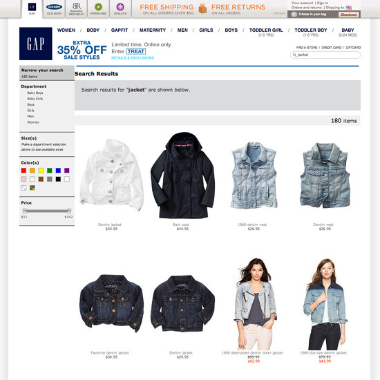 7936b73ab Foot Locker - 110  Search Results Page  Design Examples - Baymard ...