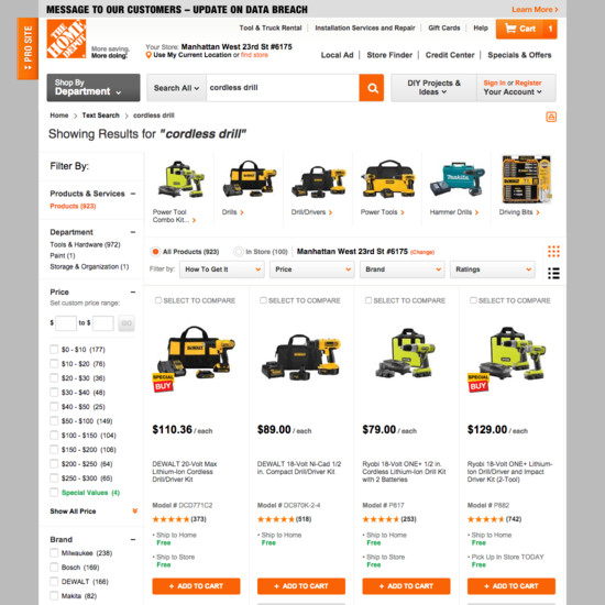 110 product list search design examples baymard institute