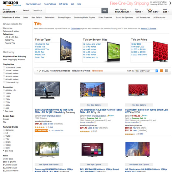 110 product list category design examples baymard institute