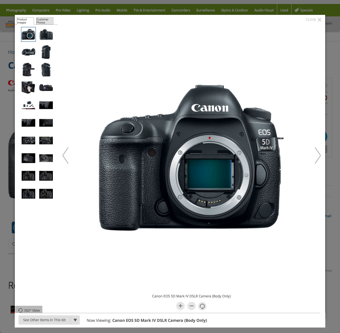 B&H Photo - 32 'Image Gallery Overlay' Design Examples