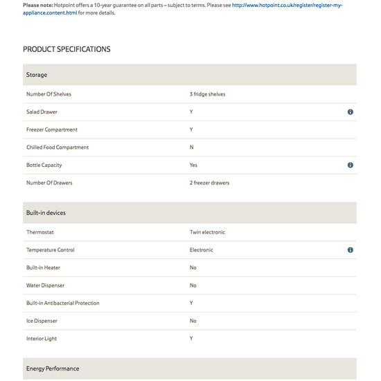70 Spec Sheet Design Examples Baymard Institute