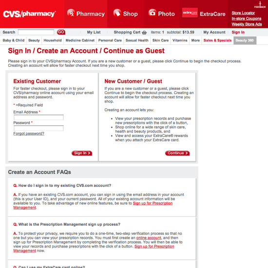 cvs e-commerce ux case study