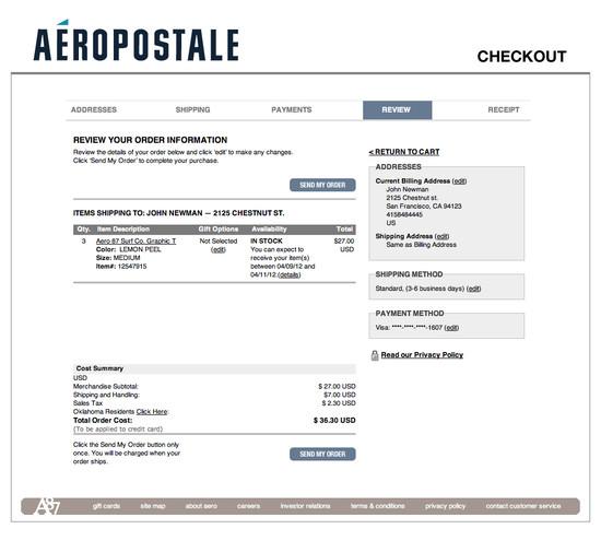 Aéropostale E-Commerce UX Case Study - Baymard Institute