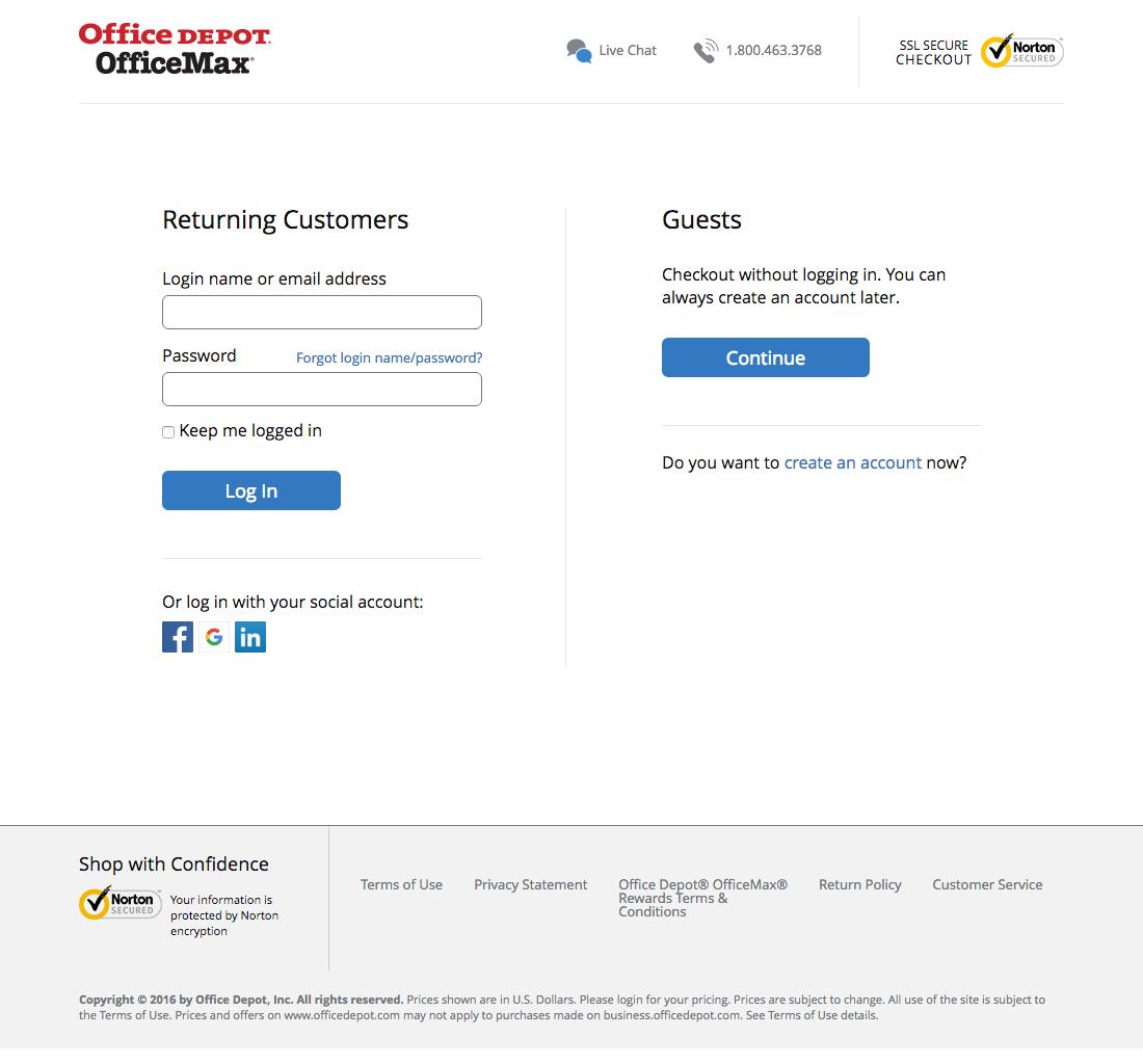 Office Depot\'s Cart & Checkout, Usability Benchmark Score: 648 ...