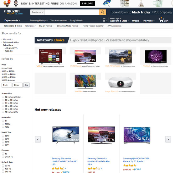 Amazon E-Commerce UX Case Study - Baymard Institute