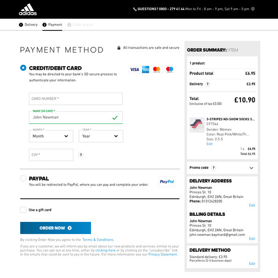 129 Examples of 'Payment' Checkout Steps - Baymard Institute