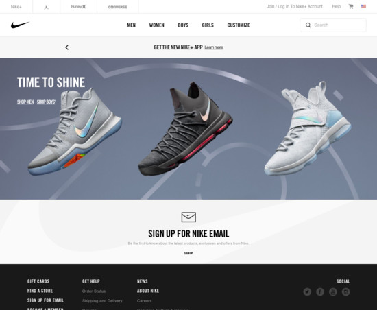 14b5fd4f3bf Nike E-Commerce UX Case Study - Baymard Institute