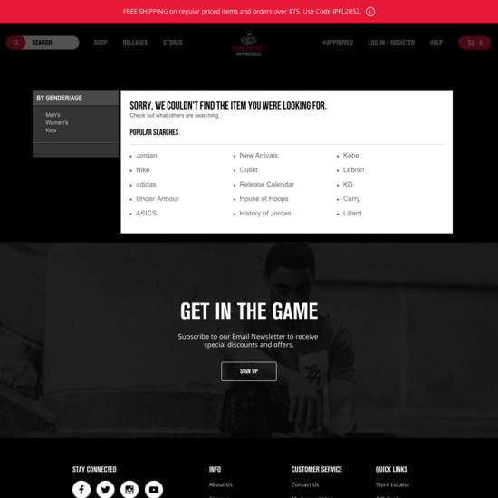 110 'No Results Page' Design Examples - Baymard Institute