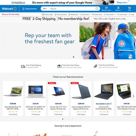 Walmart - 162 'Homepage' Design Examples - Baymard Institute