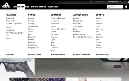 7dd6bdbd26f8e6 147  Drop-Down Menu  Design Examples - Baymard Institute