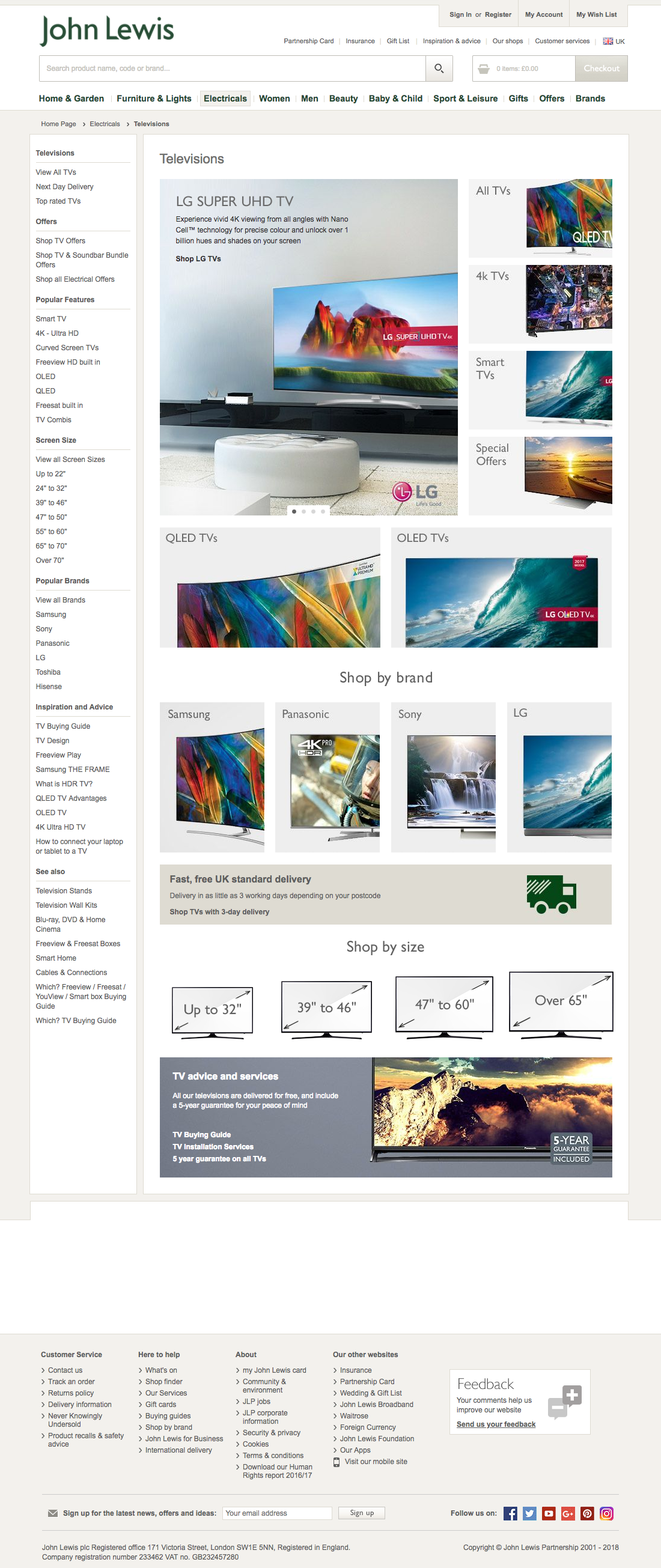 john lewis 203 intermediary category page design examples