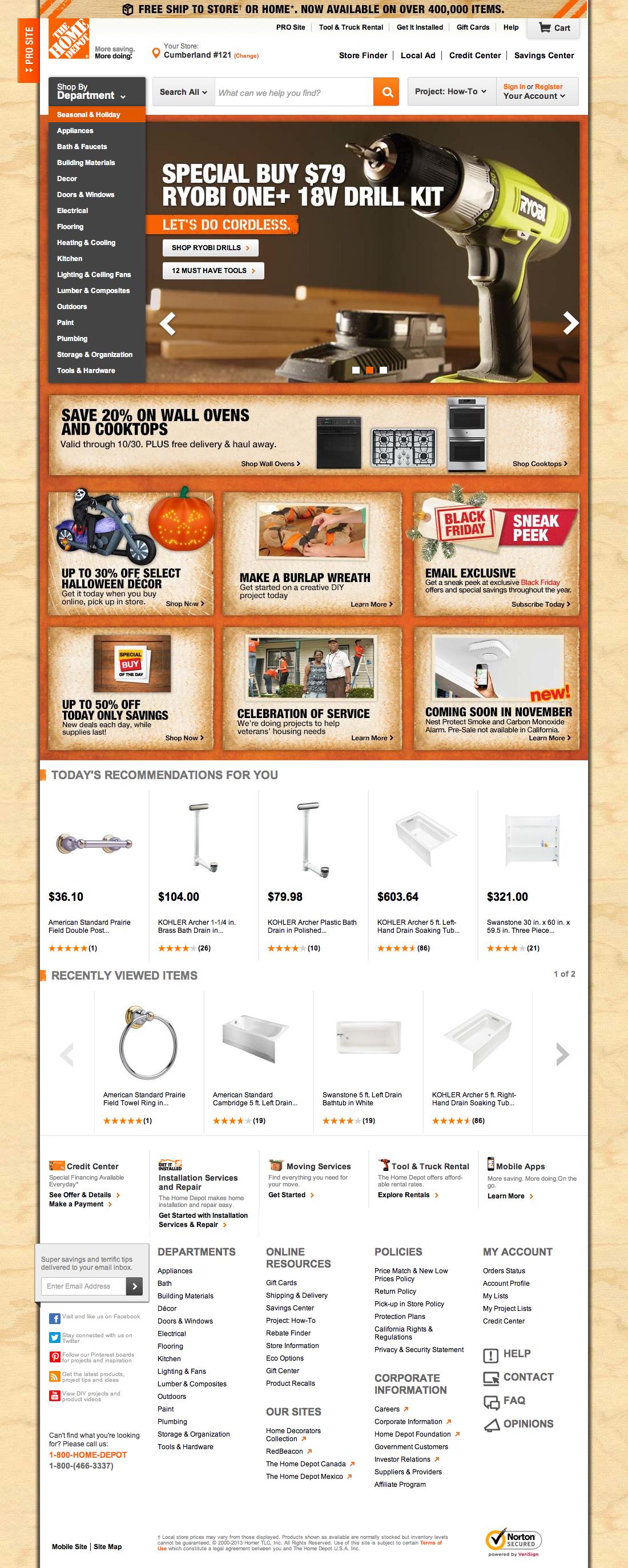 Home Depots Homepage Usability Benchmark Homepage Category