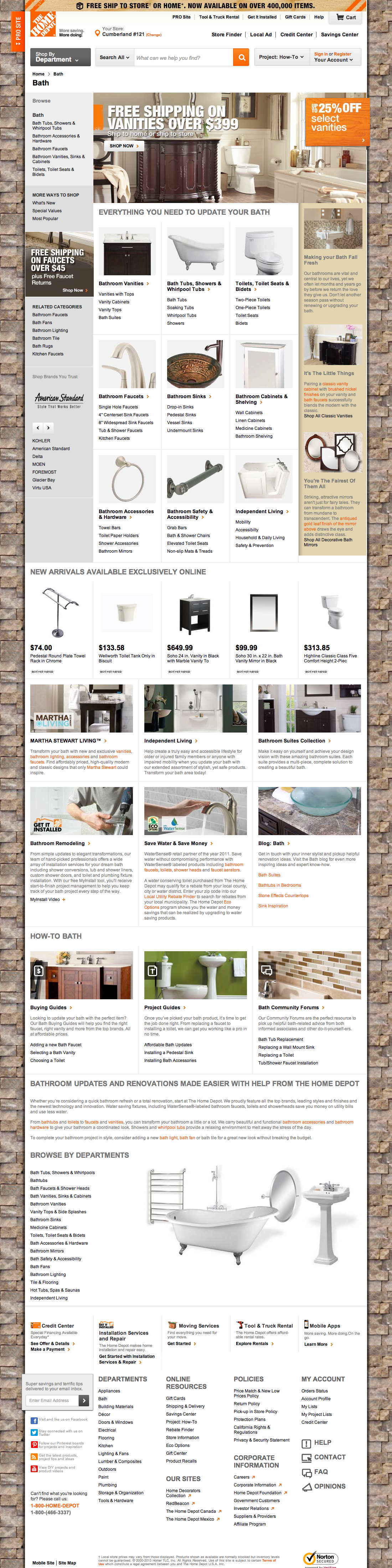 Home Depots Homepage Categories Usability Score