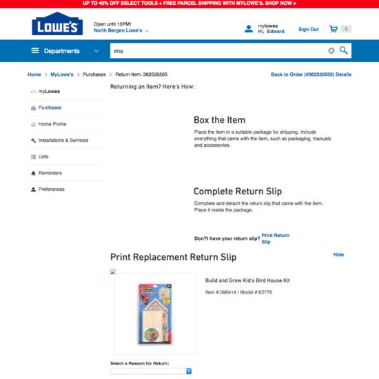 Lowe's E-Commerce UX Case Study - Baymard Institute
