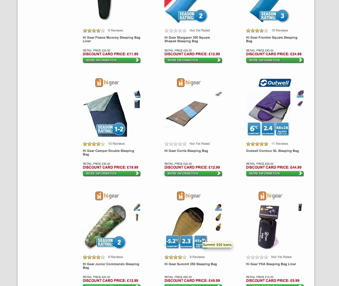 Found 5 products across 1 categories showing 1 5 products - Go Outdoors Doesn T Include The Temperature Rating For All Their Sleeping Bags Only A Few Of Them Had It Stamped Onto The Product Thumbnail