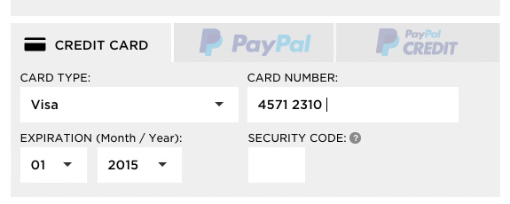 The credit card number field must allow and auto format spaces like there is on the card i thought they should be there since its on the card this test subject began to enter the credit card number sciox Images