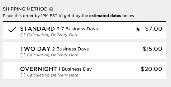 Use 'Delivery Date' Not 'Shipping Speed' – From UX Research to