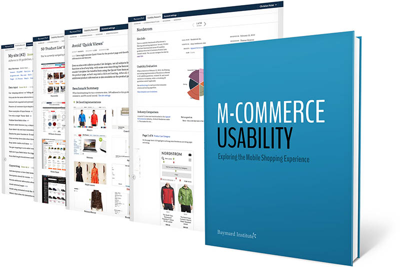 Mobile e commerce usability an original research study for E commerce mobili