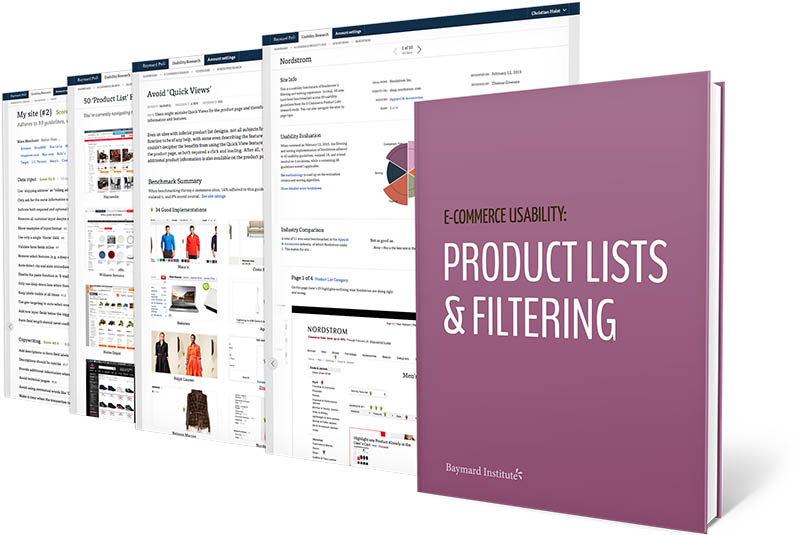 e commerce product lists filtering usability an original