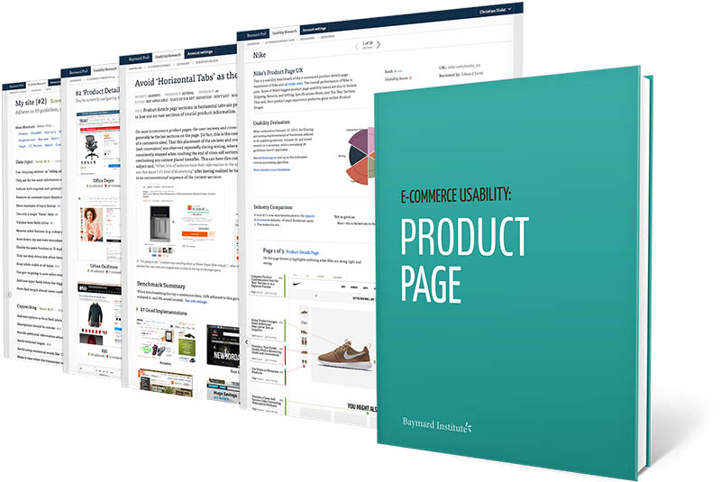 e commerce product details page usability an original research study product page baymard institute