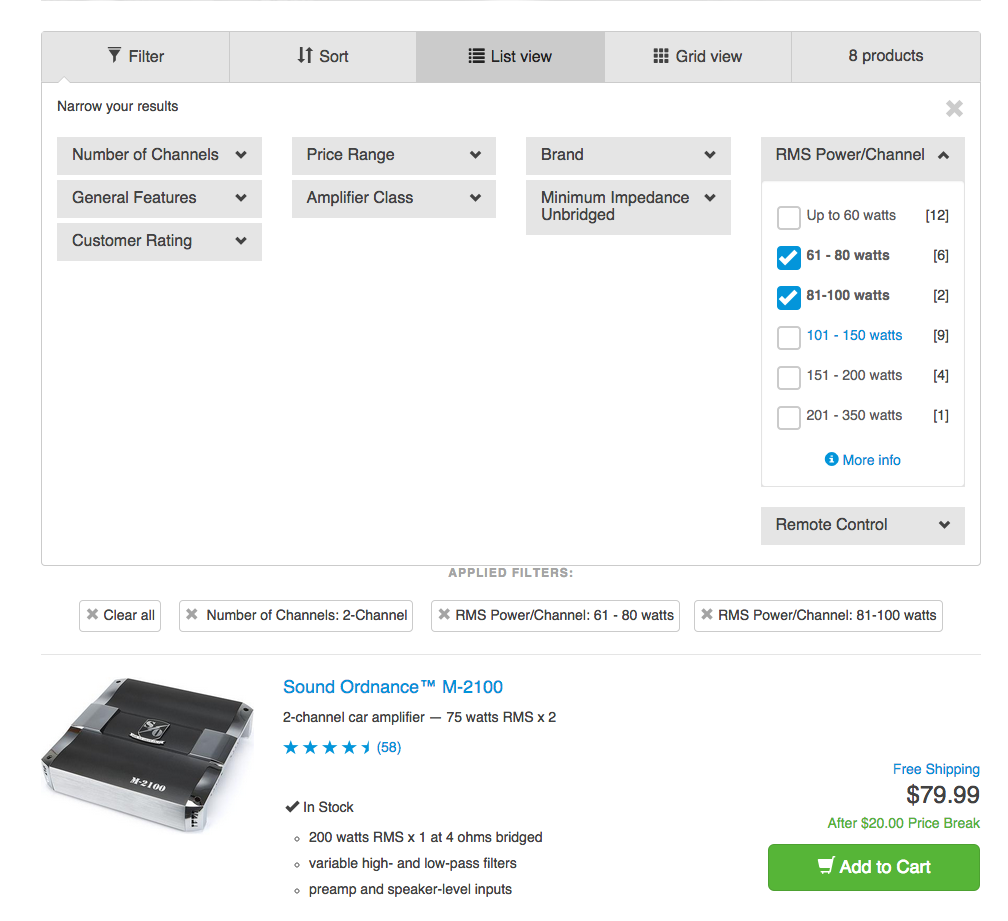 E-Commerce UX: Allow Users to Combine Multiple Filtering