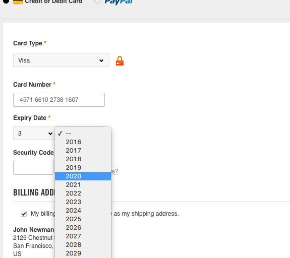 Format the 'Expiration Date' Fields Exactly the Same as the