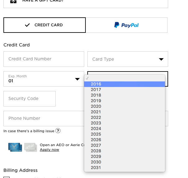 Format the 'Expiration Date' Fields Exactly the Same as the Physical