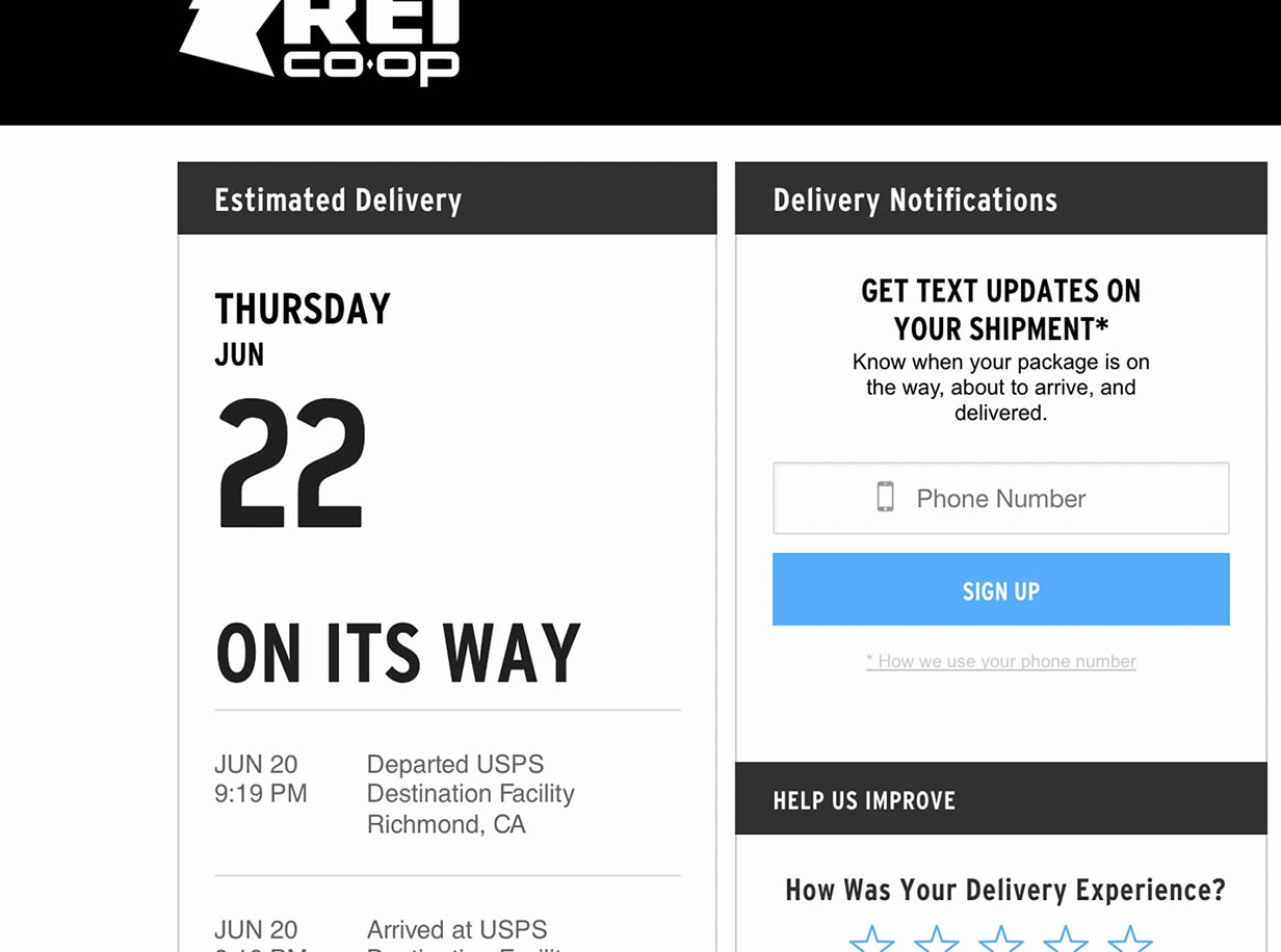 Self-Service UX: Integrate All Order Tracking Info and