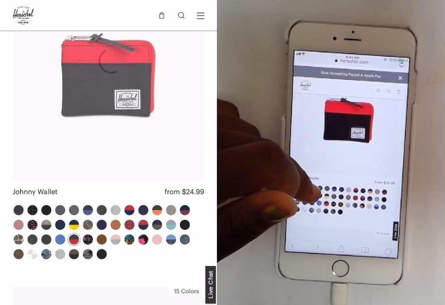 When & How to Implement Interactive Swatches on Mobile Product Listing Pages - Articles - Baymard Institute